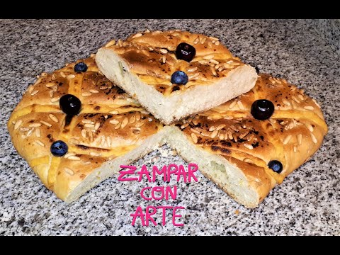 coca-de-san-juan-de-crema,-piñones-y-fruta-sin-azúcar.-sugar-free-custard-&-pinenuts-sweet-focaccia