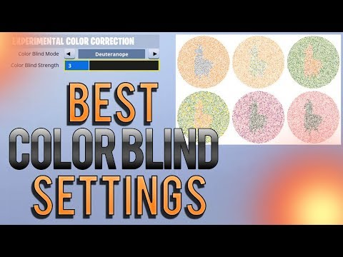 Best Color Blind Settings Fortnite PC 2019 (EXAMPLES!) - YouTube