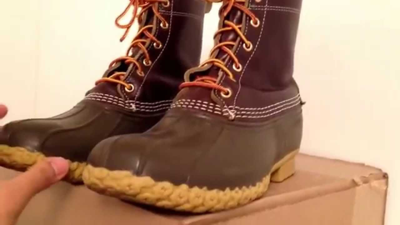 ll bean boots 8 inch men brown youtube