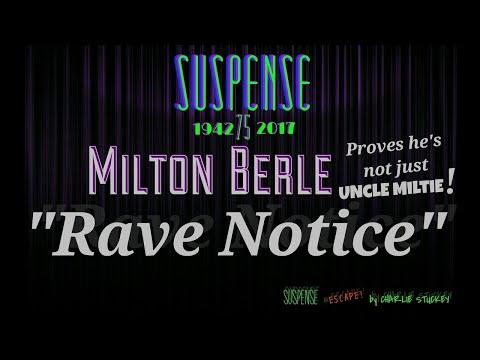 "MILTON BERLE Shoots Boss with Shotgun - A SUSPENSE Best Episode ""Rave Notice"""