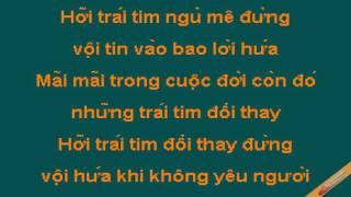 Danh Thuc Trai Tim Karaoke - Phan Đinh Tùng - CaoCuongPro