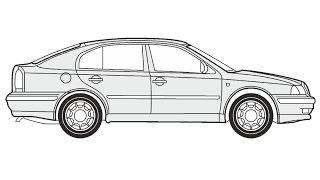 How to Draw a Skoda Octavia / Как нарисовать Skoda Octavia