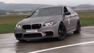 840hp bmw m5 f10 w straight pipes loud revs drifting flames