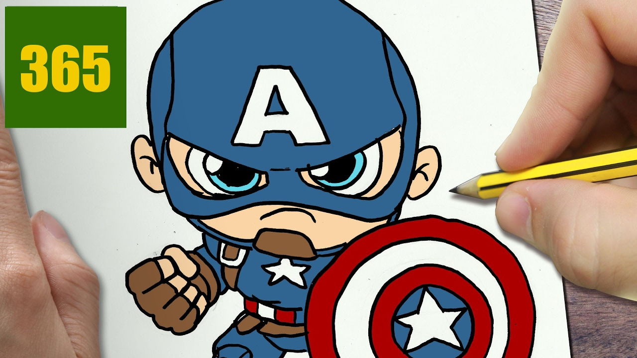 Comment dessiner captain america kawaii tape par tape dessins kawaii facile youtube - Dessiner spiderman facile ...