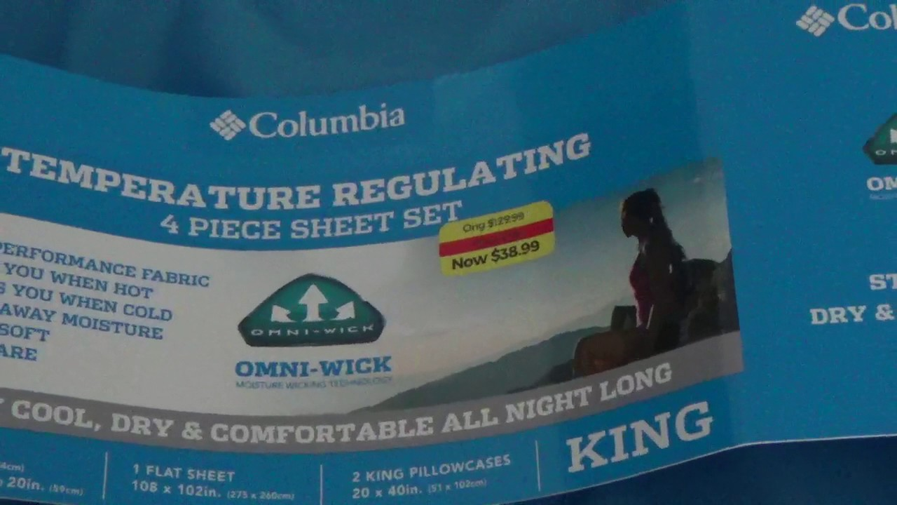 Columbia Temperature Regulating Sheet Set Review Youtube