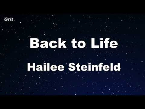 Back To Life - Hailee Steinfeld Karaoke 【No Guide Melody】 Instrumental
