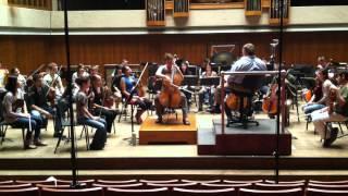Jillian Tam Bloom - Shastakovich Cello concerto # 1 - rehearsal #1 - May 2, 2012