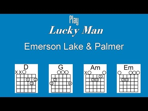 Lucky Man with Lyrics & Chords - Emerson Lake & Palmer - Acoustic Cover T3