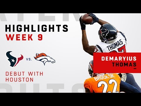 Demaryius Thomas Highlights in Debut w/ Houston!
