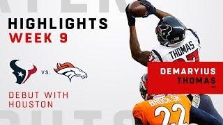 Demaryius Thomas Highlights in Debut w/ Houston!