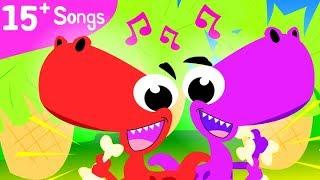 Baby T- Rex | Can You Walk Like A Dinosaur? | Dinosaur Family Dance | Fun Kids Songs by Little Angel