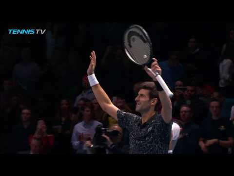 Vintage Novak Djokovic tennis vs Marin Cilic | Nitto ATP Finals 2018
