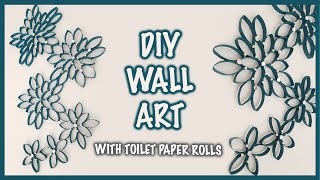 How To Make A Wall Hanging With Toilet Paper Rolls | DIY Room Decor | Kreena Desai