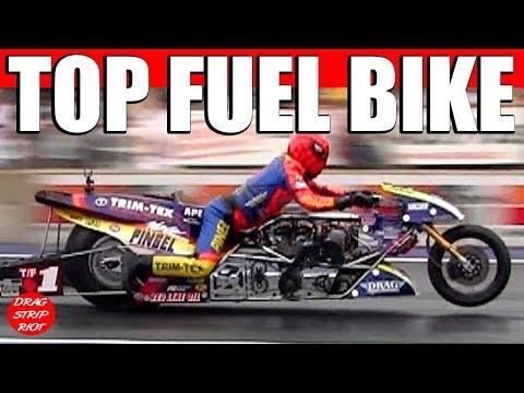 Top Fuel Motorcycle Drag Racing Night Under Fire Summit Motorsports Park 2013