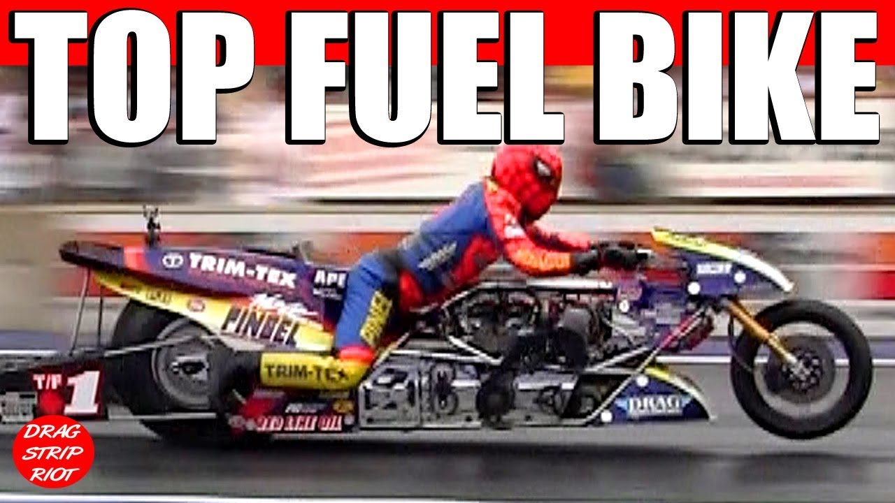 World's Fastest Top Fuel Motorcycle Drag Racing Video