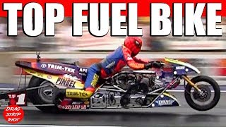 Top Fuel Motorcycle Drag Racing Night Under Fire Summit Motorsports Park 2013