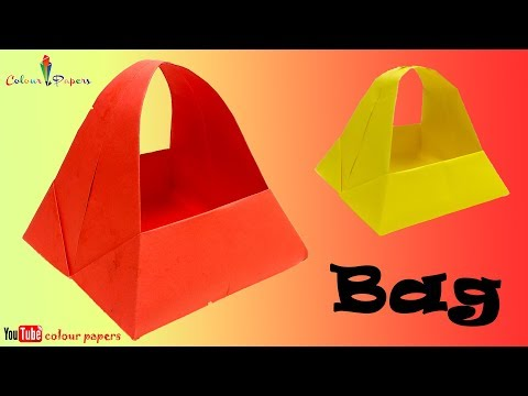 Paper Bag Making At Home | How To Make Shopping Bag With Paper | paper bag at home