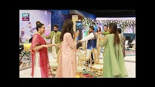 "Faysal Qureshi,Fiza Shoaib,Komal Rizvi, Areeba Habib & Aadi Playing ""Dancing Chairs"""