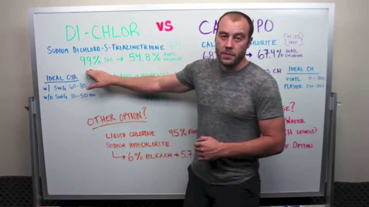 Di-Chlor vs Cal-Hypo : What is best to shock your pool?