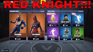 Red Knight is BACK!! *New CRITERION SKIN & INFINITE DAB EMOTE | FORTNITE ITEM SHOP TODAY 7/5/18