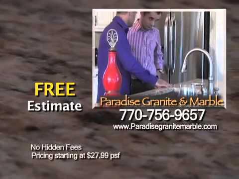 Paradise Granite Atlanta (Cheap Granite Countertops Atlanta) GA   YouTube