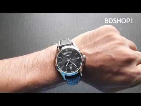 1476e252f9e0 Casio Leather Belt Gents Watch MTP-1381L-1AV Unboxing   Price in Bangladesh