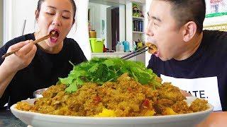 """【超小厨】5斤肥肠,做四川""""粉蒸肥肠"""",比猪肉还香,配上红薯,安逸惨了!"""