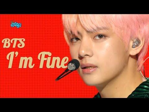 HOT BTS   Im Fine , 방탄소년단  Im Fine Show Music core 20180908