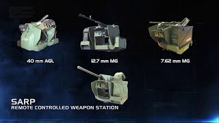 ASELSAN | Sarp - Stabilized Advanced Remote Weapon Platform RCWS