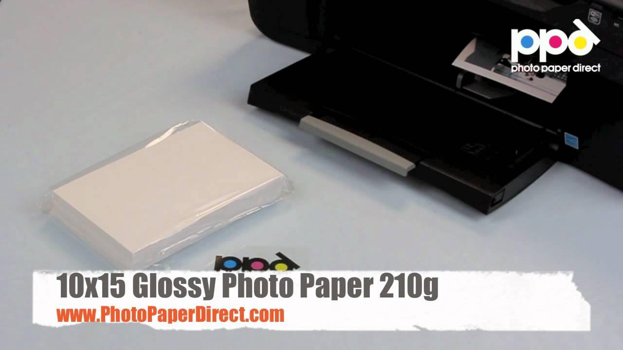 10x15 Glossy Photo Paper 210g Youtube