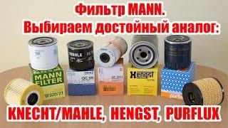 Фильтр MANN. Выбираем достойный аналог: KNECHT, MAHLE, HENGST, PURFLUX