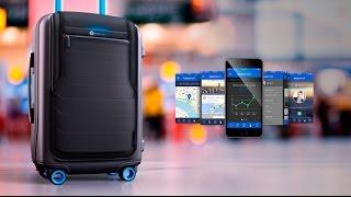 Умный чемодан The Bluesmart | Обзор, характеристики, функции, купить, цена(Мы ВКонтакте: http://vk.com/thebluesmart Сайт - http://thebluesmart.vrstore.ru GPS навигация; встроенный аккумулятор для подзарядки..., 2014-11-23T21:44:30.000Z)