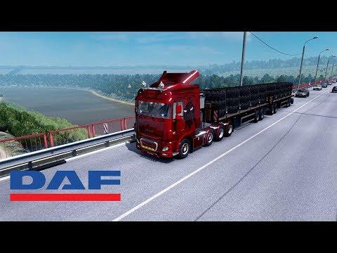 ETS2 1.28 - Rusmap - DAF Euro 6 - Morozovsk to Krasnodar
