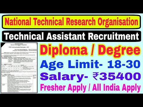 NTRO Technical Assistant Recruitment 2019 || Diploma/Degree || National Technical Research
