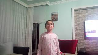 Elif çağlar istiklal marşı okuyor