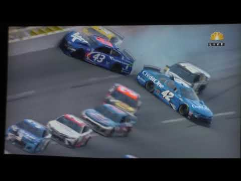 2020 Talladega YellaWood 500 – Bubba Wallace and Ryan Blaney hard crash