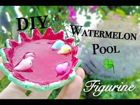 DIY Watermelon Pool Figurine | Clay and Resin Tutorial