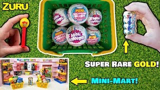 NEW Zuru 5 Surprise Mini Brands unboxing! We found SUPER RARE GOLD Mentos! Mini Brand Mini Mart!
