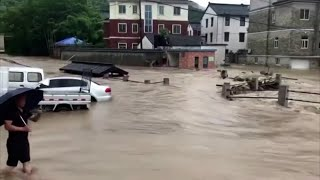 video: Typhoon In-fa hits China following flooding chaos