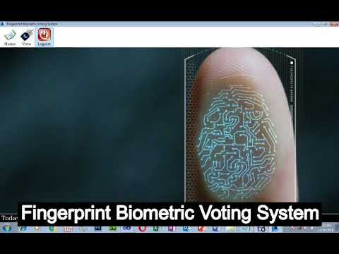 Fingerprint Biometric Voting System C# .Net Source Code
