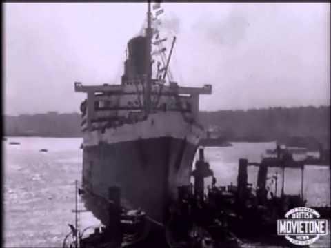 RMS Queen Mary - Maiden Voyage - Cunard - Original footage