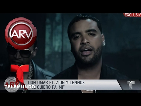 "Don Omar FT. Zion y Lennox ""Te quiero pa' mí"", estreno | Al Rojo Vivo | Telemundo"