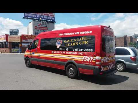 FDNY Mobile CPR Training Unit Passing By In The South Bronx, New York