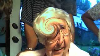 Grandma Laughing Hysterically at Web Cam