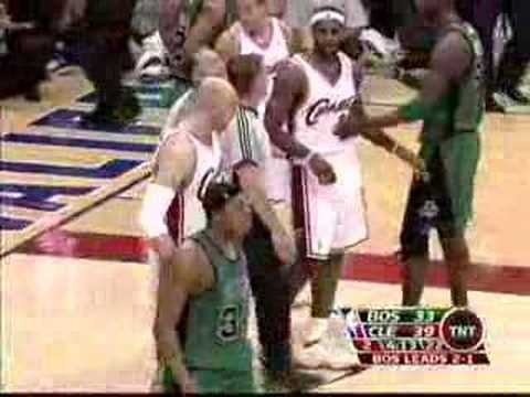 Lebron James tells Mom to Sit Down After  foul (5.12.08)