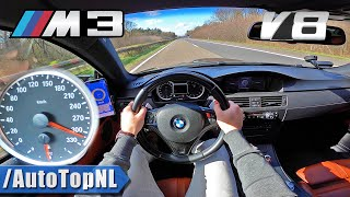 BMW M3 E92 *310KM/H* TOP SPEED on AUTOBAHN by AutoTopNL