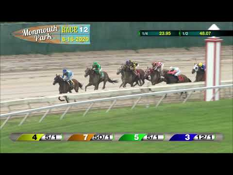 video thumbnail for MONMOUTH PARK 08-16-20 RACE 12
