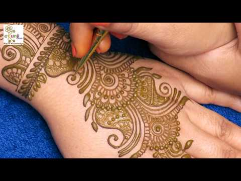 Easy Mehndi Design for Beginners | Easy Mehndi Design For Back Hands by Sonia Goyal #052