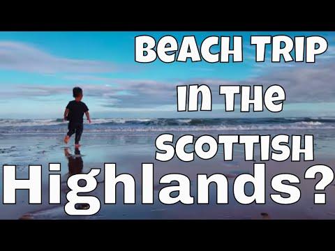 Americans Explore Scottish Highland Beaches   Fulltime Travel Family Of 6