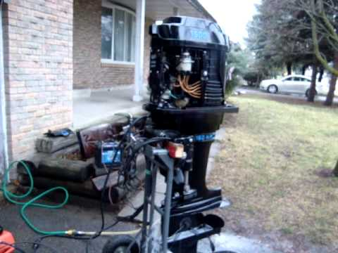 150 hp merc 6 cyl tower of power 1975 longshaft outboard. Black Bedroom Furniture Sets. Home Design Ideas